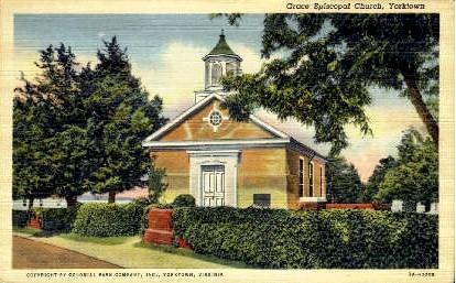 Grace Epicopal Church - Yorktown, Virginia VA Postcard