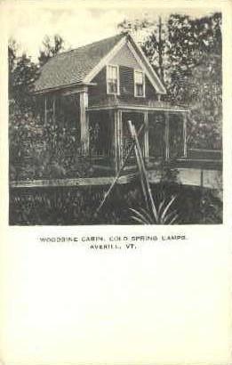 Woodbine Cabin - Averill, Vermont VT Postcard