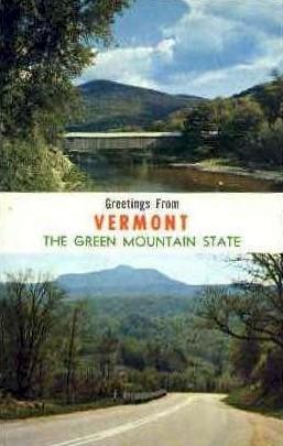 Green Mountain State - Montpelier, Vermont VT Postcard