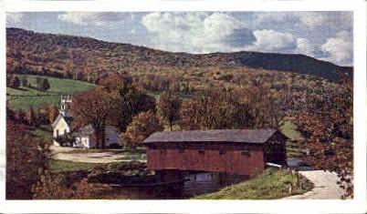 Bridge at the Green - Arlington, Vermont VT Postcard