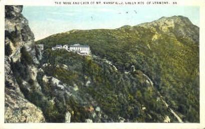 Mount Mansfield - Green Mountains, Vermont VT Postcard