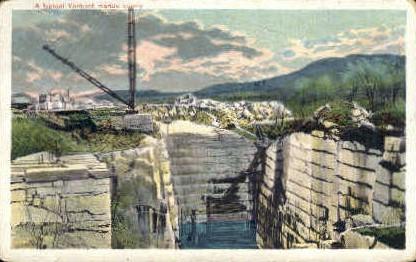 Vermont Marble Quarry - Misc Postcard