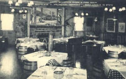 Green Mountain Diner - Arlington, Vermont VT Postcard