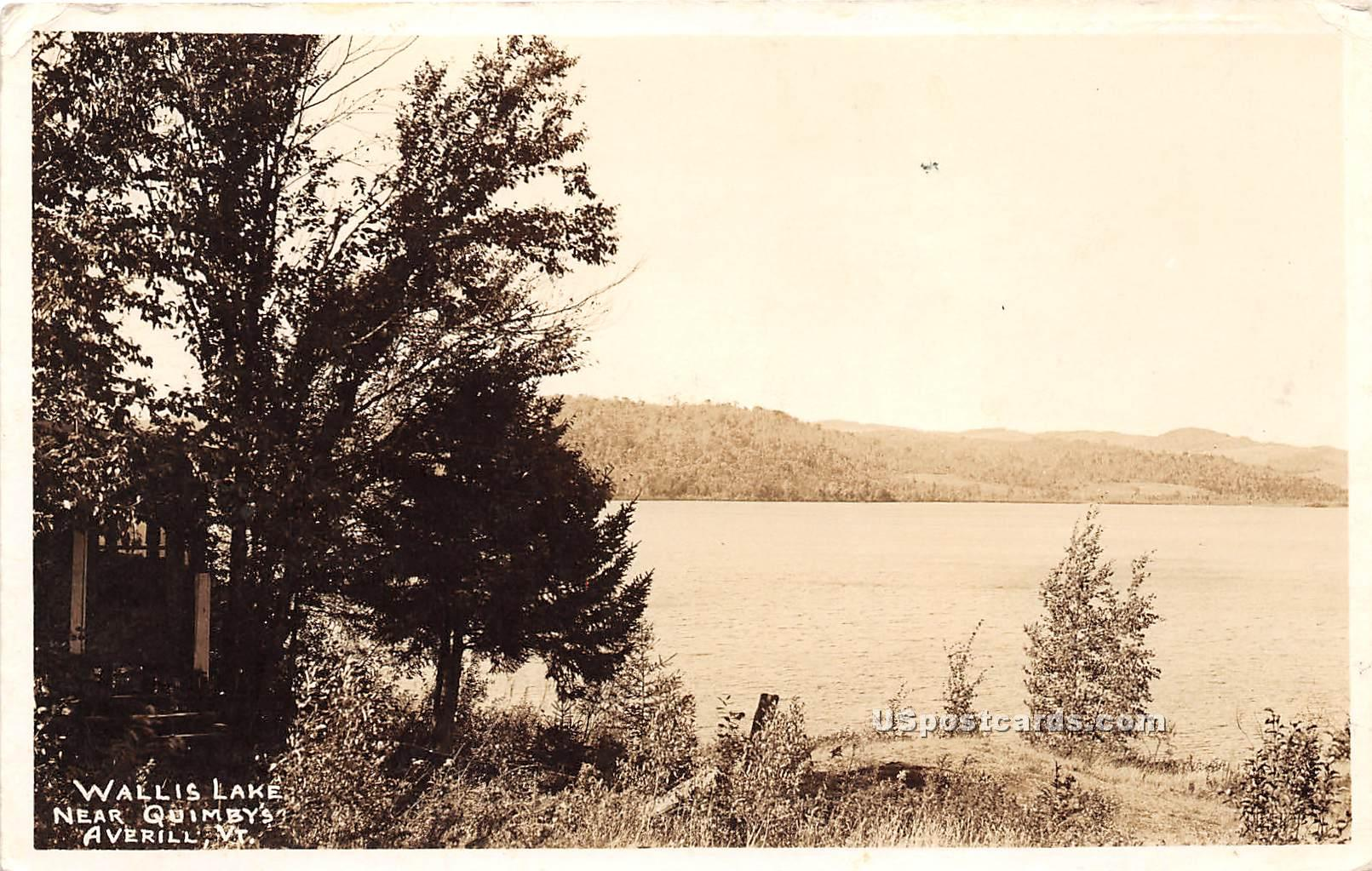 Wallis Lake - Averill, Vermont VT Postcard