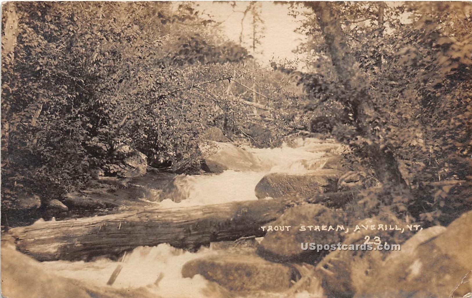Trout Stream - Averill, Vermont VT Postcard