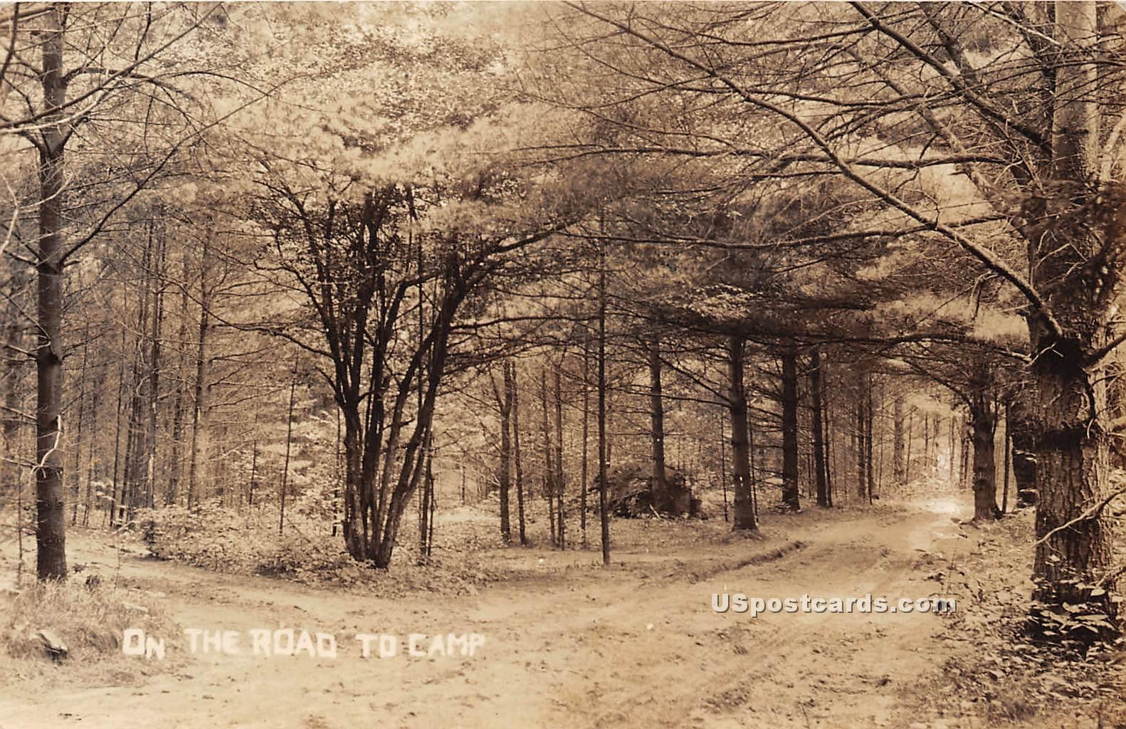 Road to Camp - Arlington, Vermont VT Postcard