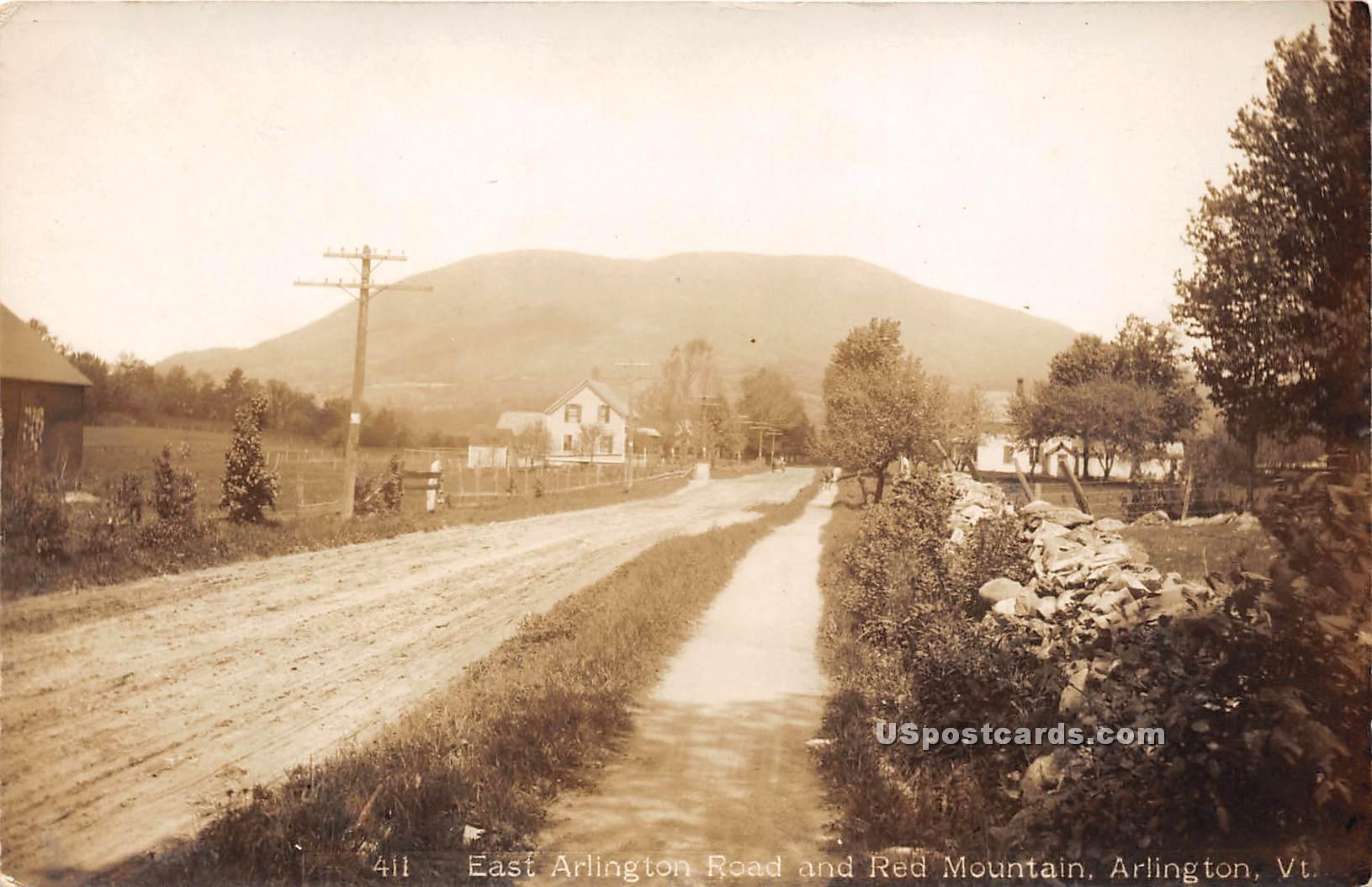 East Arlington Road - Vermont VT Postcard