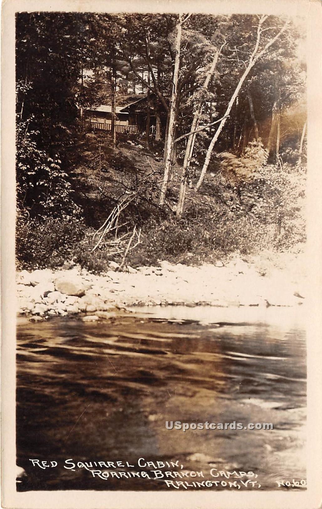 Roaring Branch Camps - Arlington, Vermont VT Postcard