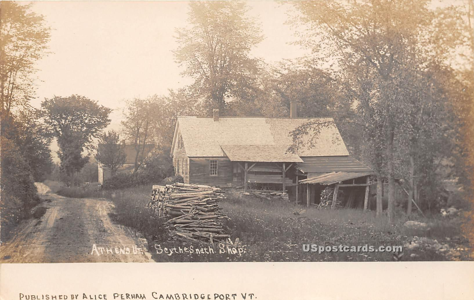 Seythesnath Shop - Athens, Vermont VT Postcard
