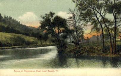 Passumpsic River - Barnet, Vermont VT Postcard