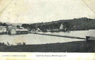 Floating Bridge - Brookfield, Vermont VT Postcard