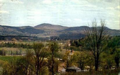 Bradford Vermont Village Postcard