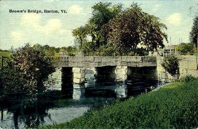 Brown's Bridge - Barton, Vermont VT Postcard
