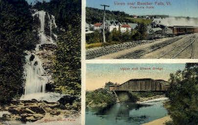 Beaver Brook Falls - Beecher Falls, Vermont VT Postcard