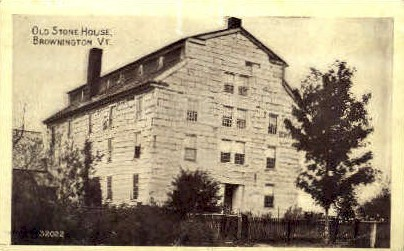 Old Stone House - Brownington, Vermont VT Postcard