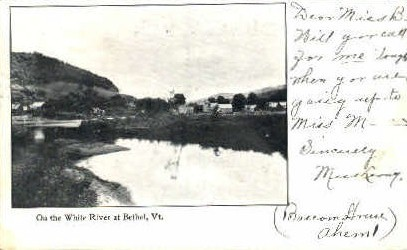 White River - Bethel, Vermont VT Postcard