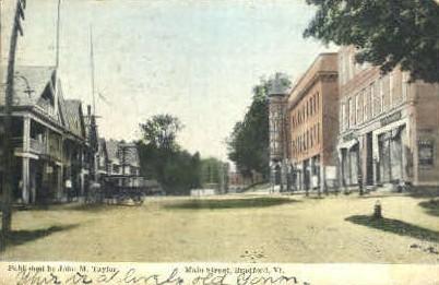 Main Street - Bradford, Vermont VT Postcard