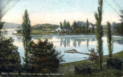 Lake Champlain - Basin Harbor, Vermont VT Postcard