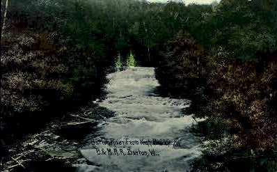 Barton River - Vermont VT Postcard