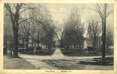 The Park - Bristol, Vermont VT Postcard