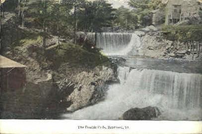 Double Falls - Bradford, Vermont VT Postcard