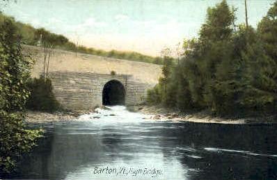 High Bridge - Barton, Vermont VT Postcard