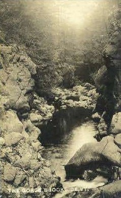 Real Photo, The Gorge - Brookfield, Vermont VT Postcard