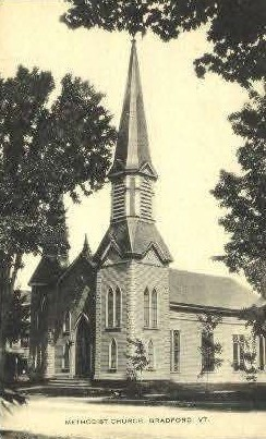 Methodist Church - Bradford, Vermont VT Postcard