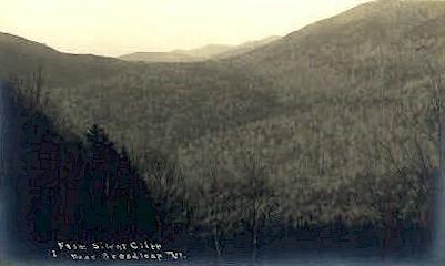 Real Photo - Silent Cliff - Breadloop, Vermont VT Postcard