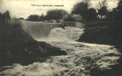 The Falls - Bradford, Vermont VT Postcard
