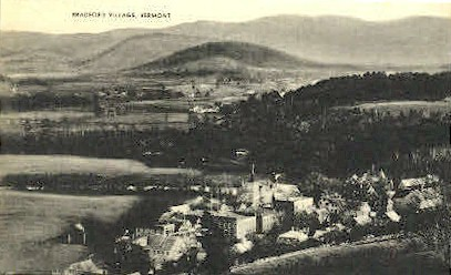 Bradford Village - Vermont VT Postcard