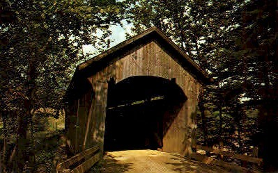 Old Covered Bridge - Cambridge Junction, Vermont VT Postcard