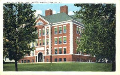 Barton Academy - Vermont VT Postcard