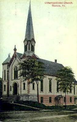 Congregational Church - Barton, Vermont VT Postcard