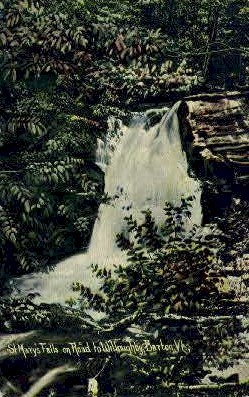 St. Mary's Falls - Barton, Vermont VT Postcard