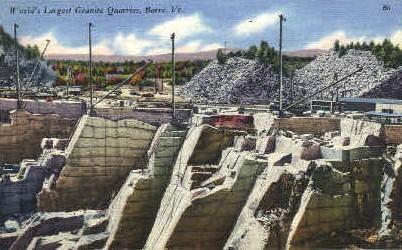 World's Largest Granite Quarries - Barre, Vermont VT Postcard