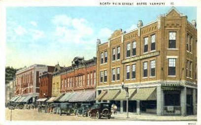 North Main St. - Barre, Vermont VT Postcard