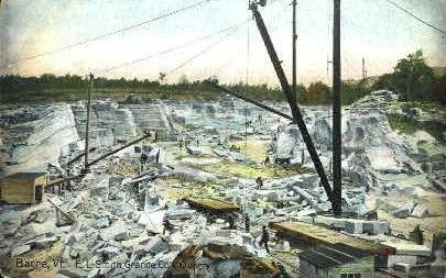 E.L. Smith Granite Co.'s Quarry - Barre, Vermont VT Postcard