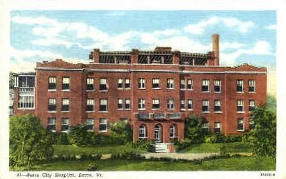 Barre City Hospital - Vermont VT Postcard