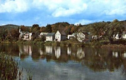Ottauquechee River - Bridgewater, Vermont VT Postcard