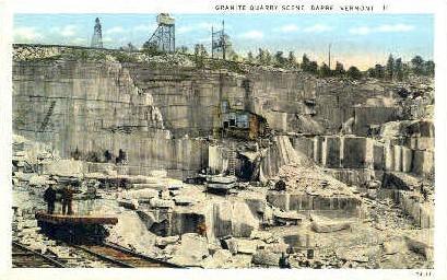 Granite Quarry - Barre, Vermont VT Postcard