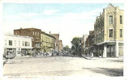 Main St. - Barre, Vermont VT Postcard