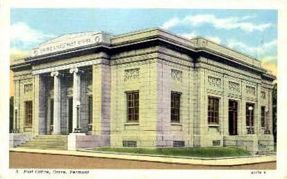 Post Office - Barre, Vermont VT Postcard