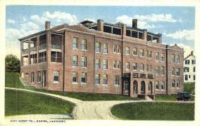 City Hospital - Barre, Vermont VT Postcard