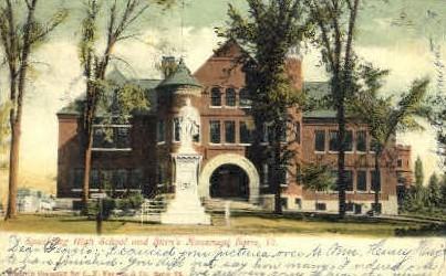 Spaulding High School - Barre, Vermont VT Postcard