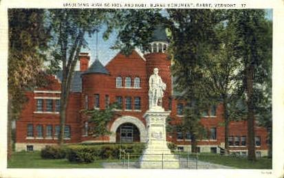 Robt. Burns Monument - Barre, Vermont VT Postcard
