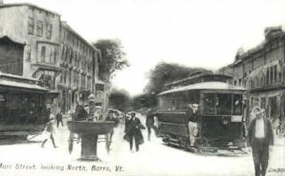 Reproduction - Main St. - Barre, Vermont VT Postcard