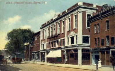 Howland Block - Barre, Vermont VT Postcard