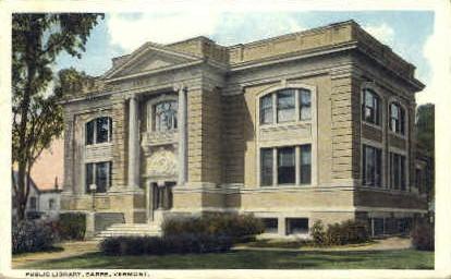 Public Library - Barre, Vermont VT Postcard