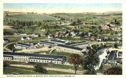 Beckley Hill & Granite Works - Barre, Vermont VT Postcard